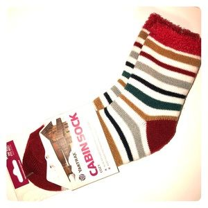 Yaktrax Cabin Sock🧦 Christmas Striped Cozy Socks